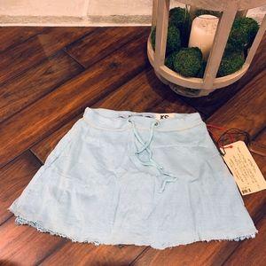 *NEW WITH TAGS*Da-Nang 100% Silk Azure Skirt- XS